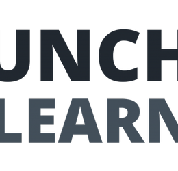 Image of pen and fork and words lunch & learn